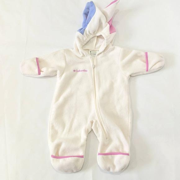 Columbia Baby Snow Suit Fleece Unicorn 0-6 Months